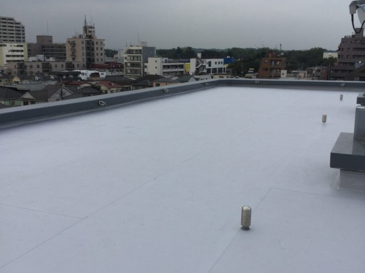 東京都立川市 A様 屋上塩ビシート防水 ウレタン防水
